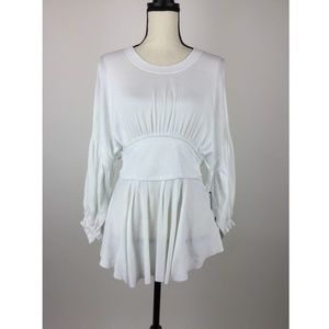 Vince Camuto Women Blouse Top Large White B32-14Z